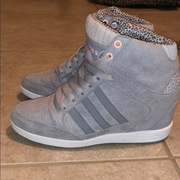 Adidas Neo super high tops wedge sneaker